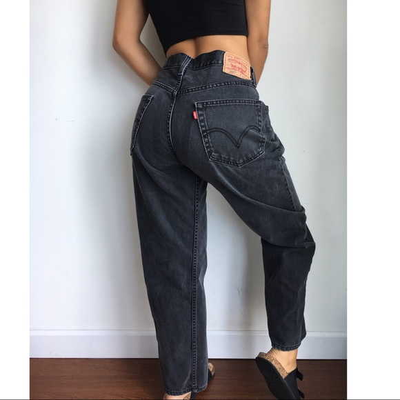 Levi S Jeans Levis Black Mom Relaxed Fit W34 Poshmark